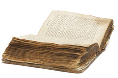 Old book (Bible). On white background stock photos