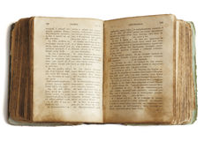Old book (Bible). On white background stock photo