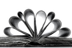 Old book in black and white Royalty Free Stock Photo