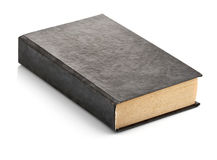 Old book with blank cover. On white background Stock Image