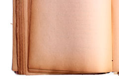 Old book. Old blank open book isolated on white background Stock Photography