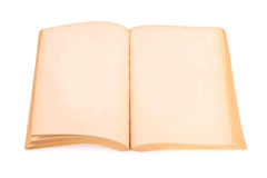 Old book with blank page Stock Image