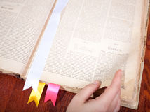 Old book with bookmarks Royalty Free Stock Images