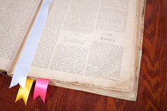 Old book with bookmarks Stock Image
