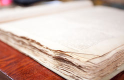 Old book close up Stock Images