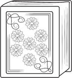 Old book coloring page Royalty Free Stock Photos