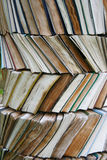 Old book column royalty free stock photography