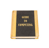 Old book with a computing concept title Royalty Free Stock Image