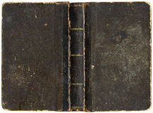 Old Book Cover. Circa 1880 - isolated on white Royalty Free Stock Photography