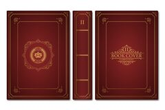Free Old Book Cover Design Elements Stock Images - 186093714