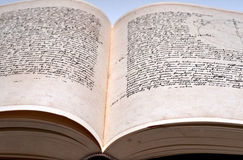 Old book double page spread Royalty Free Stock Images
