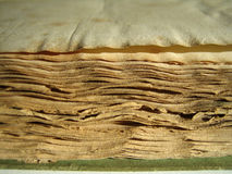 Old book edge. The edges of old book pages Stock Photos