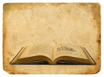 An old book eighteenth century. Old postcard. Stock Photography