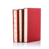 Old book with empty blank cover. Studio shot isolated on white Royalty Free Stock Images