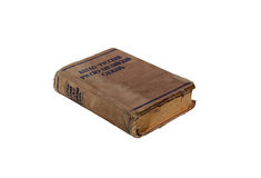 Old book English-Russian dictionary isolated Stock Photography