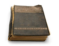 Old book with an engraving. Royalty Free Stock Photo
