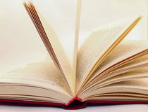 Old book in expanded form. Close Royalty Free Stock Images