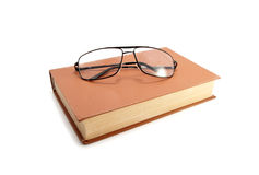 Old book and glasses Royalty Free Stock Photos