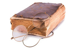 Old book and glasses Royalty Free Stock Images