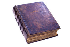 An old book. With a hard cover, on a white background Stock Photography