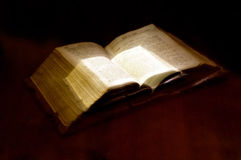 Old book: holy Bible Stock Photography