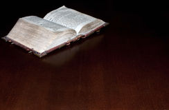 Old book: holy Bible Stock Image