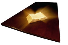 Old book: holy Bible Stock Images
