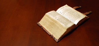Old book: holy Bible Royalty Free Stock Photography