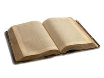 Old book isolated_1 Stock Photography