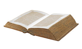 Old book, isolated Royalty Free Stock Photo