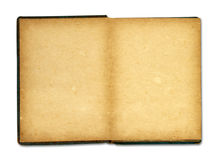 Old book isolated on white background Stock Images