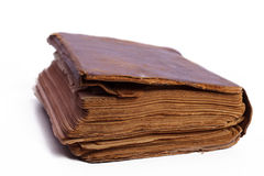 Old book. Isolated on white background Royalty Free Stock Photos