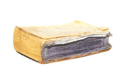 Old book  isolated on white Royalty Free Stock Photo