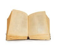 Old book isolated on white background. Vintage Royalty Free Stock Photography