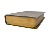 Old book isolated on white background Stock Photography