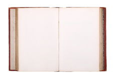 Old book isolated on white , with clipping path Stock Photo
