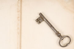 Old book and key Stock Photography
