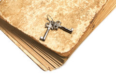 Old book with the keys Royalty Free Stock Image