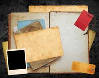 Old book layout. Old book and papers website layout Stock Image