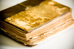 Old book in leather cover Royalty Free Stock Photos