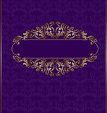 Old book luxury florish background. There is old book luxury florish violet background royalty free illustration