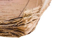 Old book macro Stock Photo