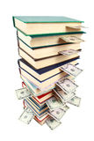Old book and money Royalty Free Stock Photography