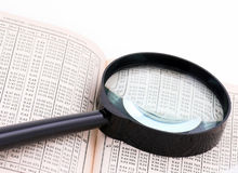 Free Old Book, Numbers And The Magnifying Glass Stock Photo - 4786840