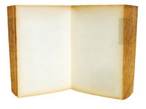 Old book Open. Blank two page for web page Royalty Free Stock Photos