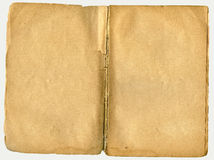 Old book open on both blank pages. Old book open on both blank shabby pages Royalty Free Stock Photography