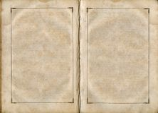 Old book open on both blank pages. Royalty Free Stock Photos