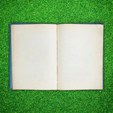 Old book open on green grass Royalty Free Stock Photos