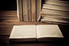 Old book open Royalty Free Stock Image