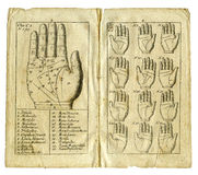 Old book page from 1717. About the curious science of astrology and fortune telling Royalty Free Stock Image
